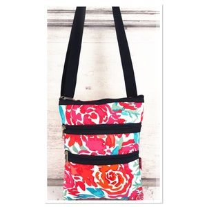 Watercolor Blossom Crossbody Bag
